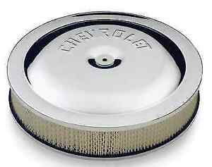 Proform 141 307 14 Chrome Plated High Performance Air Cleaner Kit For Chevrolet