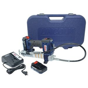 Lincoln 20v Lithium ion Battery Operated Grease Gun Dual Battery Lni 1884