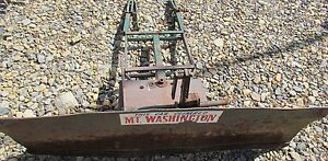 Power King Economy 48 Inch Tractor Snow Dirt Blade Plow Early Model