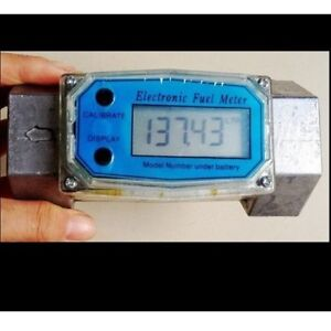 1 5 1 5 Inch Digital Electronic Diesel Fuel Flow Meter Gauge 300psi Bspt npt