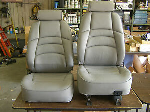 Nos 1994 1998 Ford Mustang Grey Leather Seat Covers Seats 1995 1996 1997