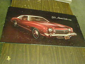 Oem 1973 Chevrolet Monte Carlo Dealership Display Picture Cardboard