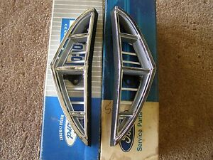 Nos Oem Ford 1968 Thunderbird Grille Ends Extensions Mouldings
