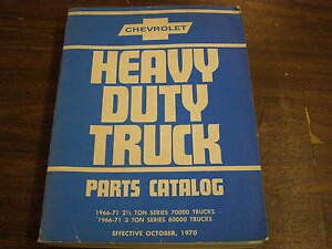 Oem 1966 1971 Chevrolet Truck Pickup Master Parts Book 2 1 2 3 Ton