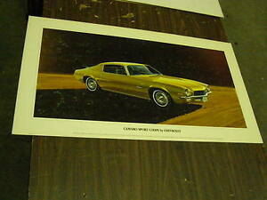 Oem 1972 1973 1974 Chevrolet Camaro Dealership Display Picture Cardboard