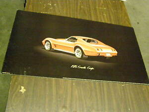 Oem 1976 Chevrolet Corvette Stingray Dealership Display Picture Cardboard
