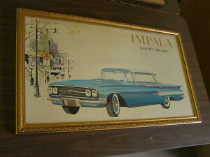 Original 1960 Chevrolet Impala Sport Sedan Dealer Poster 4 Door