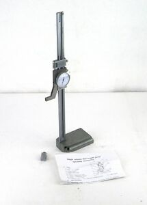 Import 12 X 0 001 Stainless Steel Dial Height Gage 621 7512 1ad