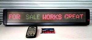 Alphanet Led Sign 3color Programmable Scrolling Message Board 2 Lines