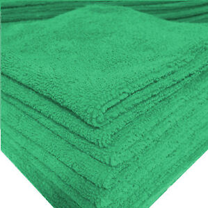240 New Green Microfiber Towel New Cleaning Cloths Bulk 12x12 Manufacturers Sale