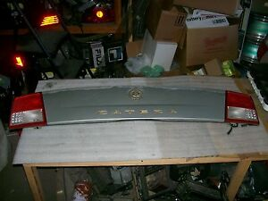 2000 2001 Cadillac Catera Factory Trunk Finish Panel Lid Assembly Gold Emblem