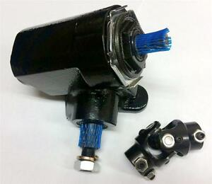 Black Ford T Bucket Style Reversed Corvair Steering Box 20 1 Ratio W U Joint