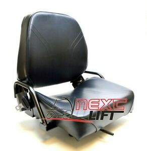 New Nissan Style Folding Forklift Seat With Seatbelt Switch Komatsu Cat