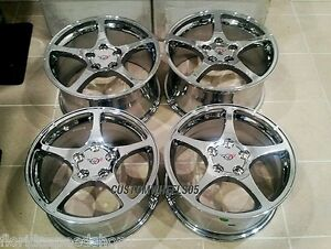 Chrome C5 Style Corvette Wheels For 1997 2004 C5 17x8 5 18x9 5 Set