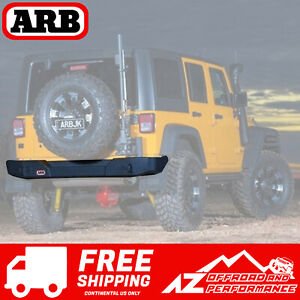 Arb Rear Bumper Textured Black Fits 2007 2017 Jeep Wrangler Jk Jku 5650360