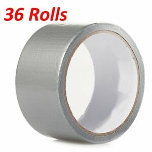 30 Rolls 30 Ft X 1 88 Industrial Utility Craft Hardware Duct Tape Silver Lot 30