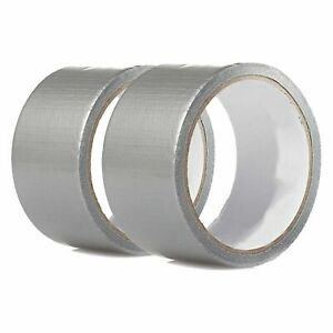 2 Rolls 30 Ft X 1 88 Industrial Utility Craft Hardware Duct Tape Silver Lot 2