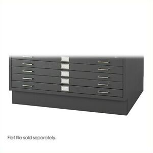 Filing Cabinet File Storage Low Base For 4986 And 4996 Flat 5 Drawer In Black