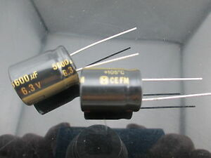 10 Japan Panasonic Fm 5600uf 6 3v 560mfd Impedance Electrolytic Capacitors