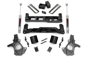 Rou 248 22 Rough Country 2014 2015 Chevy gmc 1500 2wd 5 quot Lift W Shocks