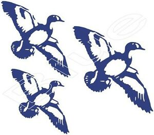 Flying Duck Trio Vinyl Graphic Decal Sticker Choice Of 6 Colors