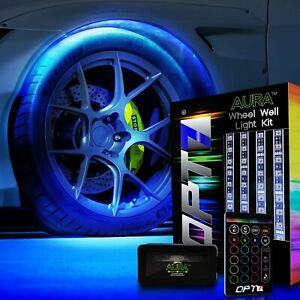 Opt7 All Color Wheel Well Led Light Kit Custom Accent Neon Strips Rim Tire Set