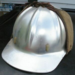 Vintage Metal Mining Hard Hat Construction W Winter B f Mcdonald Cloth Cover