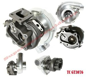 Gt30 Gt3076 Turbocharger 70 Compressor 64 Trim 5 Bolt Flange And T25t28 Flange