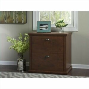 Filing Cabinet File Storage 2 Drawer Lateral In Antique Cherry By Bush