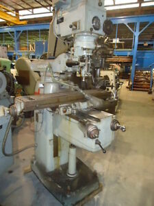 Induma Vertical Mill R 8 Spindle 9 x42 Table Dro
