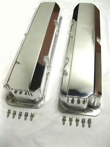 Polished Ford Fe V8 Fabricated Aluminum Valve Covers W o Hole 352 390 427