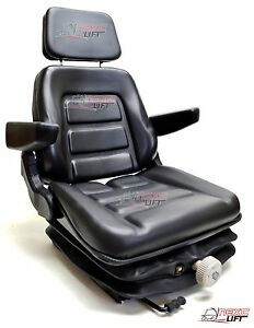 New Low Profile Suspension Seat With Armrest Dozer Backhoe Tract