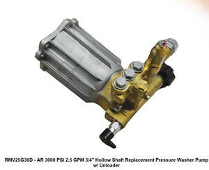 Pressure Washer Pump Ar Rmv25g30d 2 5 Gpm 3000 Psi 3 4 Shaft