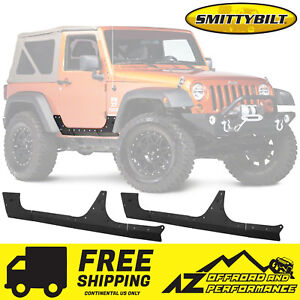 Smittybilt Rocker Armor For 07 18 Jeep Wrangler Jk 2 Door Free Shipping