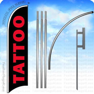 Tattoo Windless Swooper Flag 15 Kit Tall Feather Banner Sign Kb