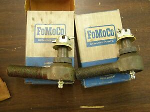 Nos Oem Ford 1961 1964 Econoline Van Pickup Outer Tie Rod Ends 1962 1963 E100