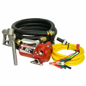 Fill rite Rd812nh 8 Gpm 12v Dc Portable Fuel Transfer Pump With Nozzle And Hose