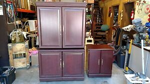 desk Workstation Hutch Cabinet Lots Of Storage Rosewoodwedeliverlocallynorca