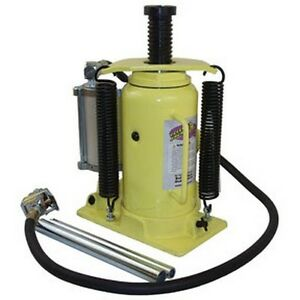 Esco Equipment 10450 Yellow Jackit 20 Ton Air Hydraulic Bottle Jack