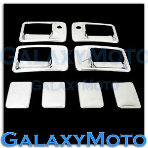 99 16 Ford Super Duty F250 F350 F450 Chrome 4 Door Handle W Psg Keyhole Cover