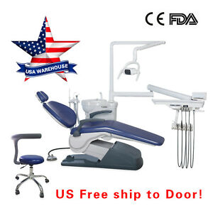 Medical Dental Exam Patient Chair W stool Combination Computer Controll Unit Fda