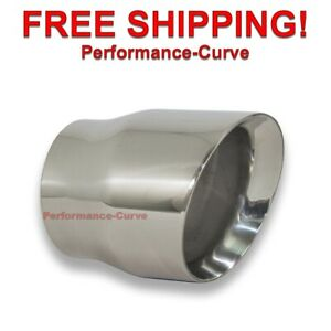 Diesel Race Stainless Steel Exhaust Tip Dw Angle 4 In 5 Out 6 Long