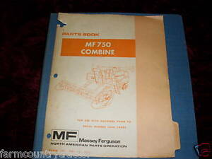 Massey Ferguson 750 Combine Parts Manual