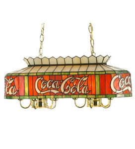 Coca Cola Stain Glass Hanging Light Coke Ceiling Lamp 24