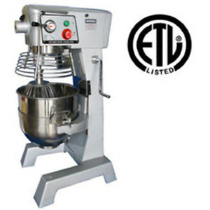 Uniworld 30 Quart Planetary Mixer 3 Speeds Etl Listed Upm 30e