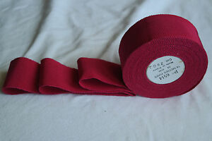 10 Yard Roll 1 1 2 Garnet Red Vtg Cotton Rayon Petersham Ribbon Millinery Hat