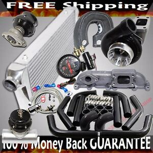 Black Gt35 Turbo Piping Wastegate Bov For 03 05 Dodge Neon Srt 4 2 4l Dohc