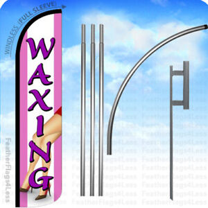 Waxing Windless Swooper Flag 15 Kit Feather Banner Sign Pz