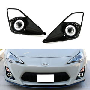 Complete Projector Fog Lamps W Led Halo Ring Parking Lights For 13 16 Scion Fr S