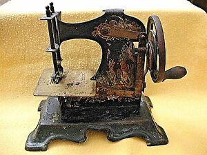 German Made Casige Vines Berries Toy Sewing Machine Vintage Original Antique